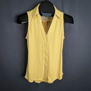 Maurices Top Shirt Size Small Yellow Womens